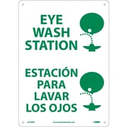 Eye Wash Station (Graphic), Bilingual, 14X10, Rigid Plastic