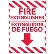 Fire Extinguisher, Bilingual, 14X10, Rigid Plastic