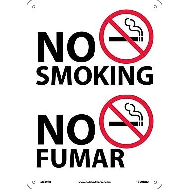 No Smoking (Graphic), Bilingual, 14X10, Rigid Plastic