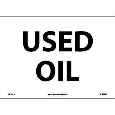 Used Oil, 10X14, Adhesive Vinyl