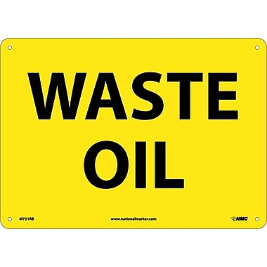 Waste Oil, 10X14, Rigid Plastic