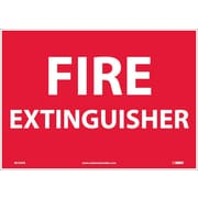 Fire Extinguisher, 10X14, Adhesive Vinyl