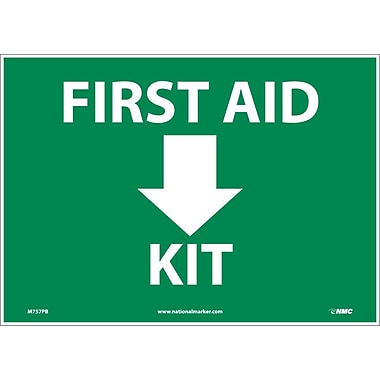 First Aid (Arrow) Kit, 10X14 Adhesive Vinyl