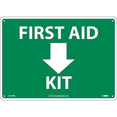 First Aid (Arrow) Kit, 10X14, Rigid Plastic