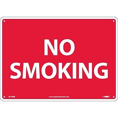 No Smoking, 10X14, Rigid Plastic
