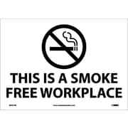 (Graphic) This Is A Smoke Free Workplace, 10X14, Adhesive Vinyl