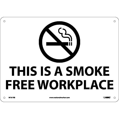 (Graphic) This Is A Smoke Free Workplace, 10X14, Rigid Plastic