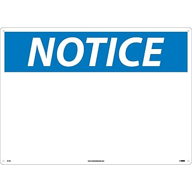 Notice, Blank, 20X28, .040 Aluminum