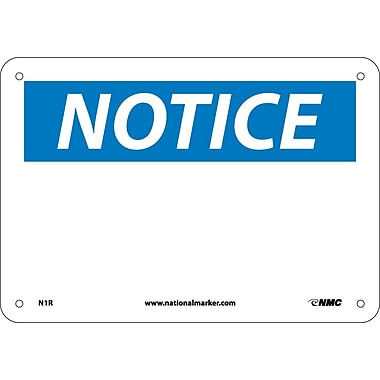 Notice, (Heading Only), 7X10, Rigid Plastic