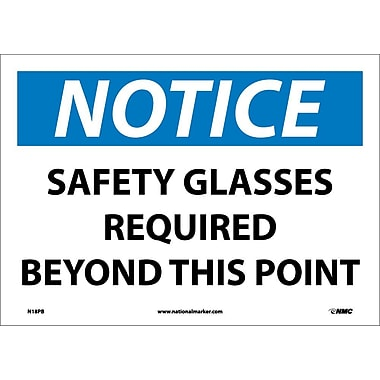 Notice, Safety Glasses Required Beyond This Point, 10