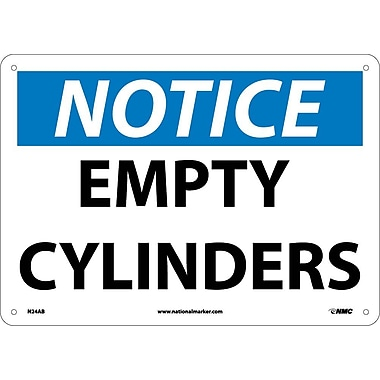 Notice, Empty Cylinders, 10