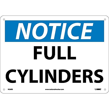 Notice, Full Cylinders, 10X14, Rigid Plastic