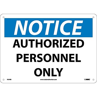 Notice, Authorized Personnel Only, 10