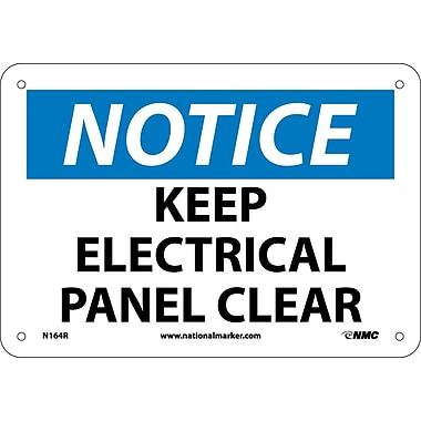 Notice, Keep Electrical Panel Clear, 7X10, Rigid Plastic