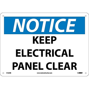 Notice, Keep Electrical Panel Clear, 10X14, Rigid Plastic
