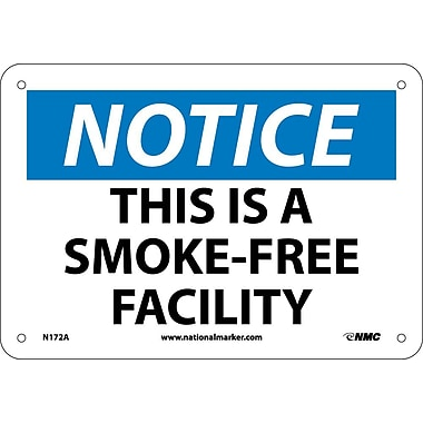 Notice, This Is A Smoke Free Facility, 7X10, .040 Aluminum