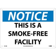 Notice, This Is A Smoke-Free Facility, 10X14, Rigid Plastic