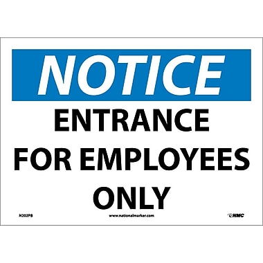Notice, Entrance for Employees Only, 10