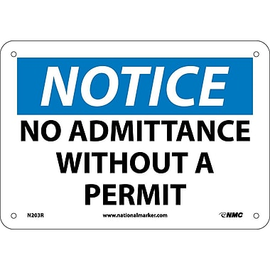 Notice, No Admittance Without A Permit, 7