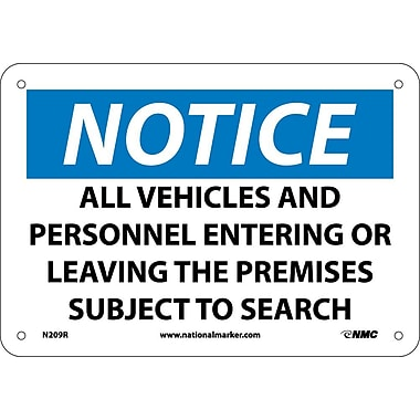 Notice, All Vehicles And Personnel Entering Or Leaving.., 7