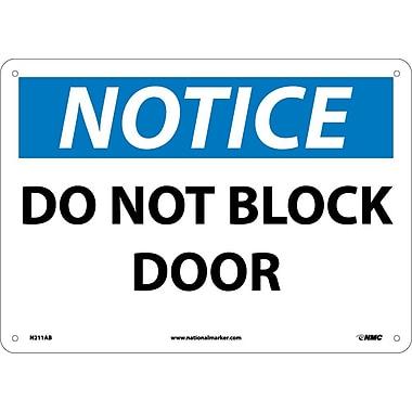 Notice, Do Not Block Door, 10