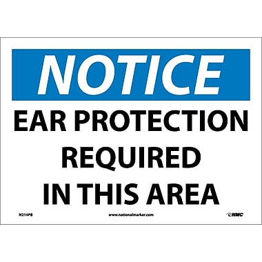 Notice, Ear Protection Required In This Area, 10