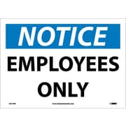 Notice, Employees Only, 10X14, Adhesive Vinyl