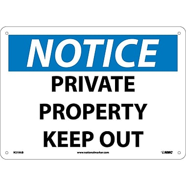 Notice, Private Property Keep Out, 10
