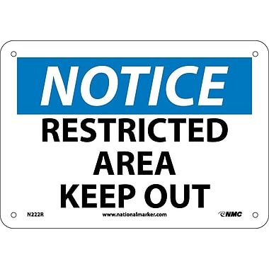 Notice, Restricted Area Keep Out, 7
