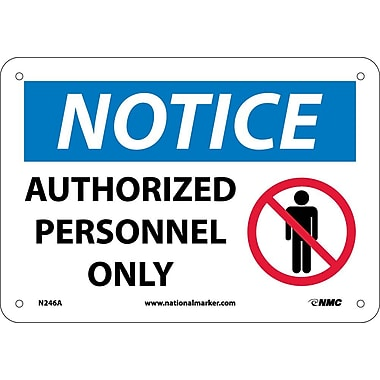 Notice, Authorized Personnel Only, Graphic, 7