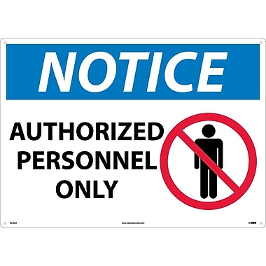 Notice, Authorized Personnel Only, Graphic, 20