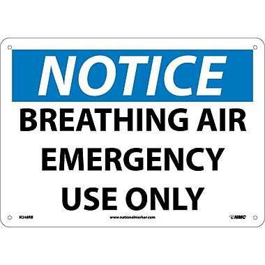 Notice, Breathing Air Emergency Use Only, 10