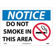 Notice, Do Not Smoke In This Area, Graphic, 10X14, Adhesive Vinyl