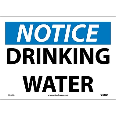 Notice, Drinking Water, 10X14, Adhesive Vinyl