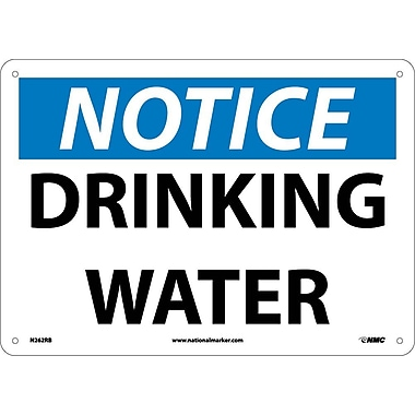 Notice, Drinking Water, 10X14, Rigid Plastic