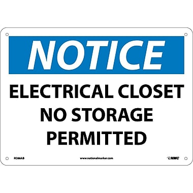 Notice, Electrical Closet No Storage Permitted, 10
