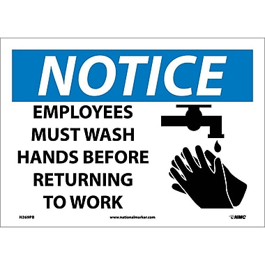 Notice, Employees Must Wash Hands Before Returning To Work, Graphic, 10