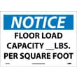 Notice, Floor Load Capacity__Lbs. Per Square Foot, 10X14, Adhesive Vinyl