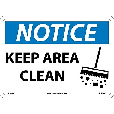 Notice, Keep Area Clean, Graphic, 10