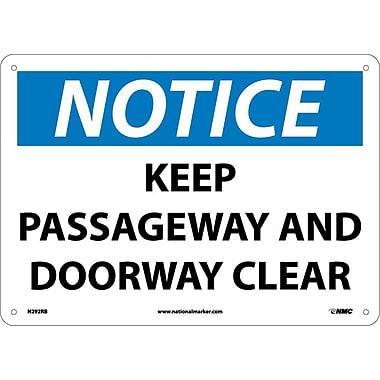 Notice, Keep Passageway And Doorway Clear, 10