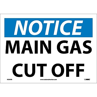 Notice, Main Gas Cut Off, 10