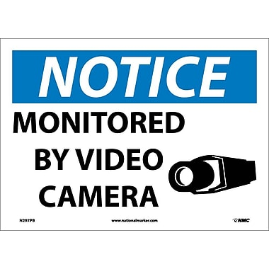 Notice, Monitored By Video Camera, 10