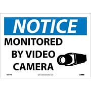 Notice, Monitored By Video Camera, 10X14, Adhesive Vinyl