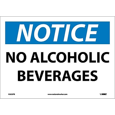 Notice, No Alcoholic Beverages, 10