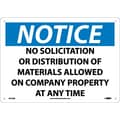 Notice, No Solicitation Or Distribution Of Materials Allowed On Company Property At Any Time