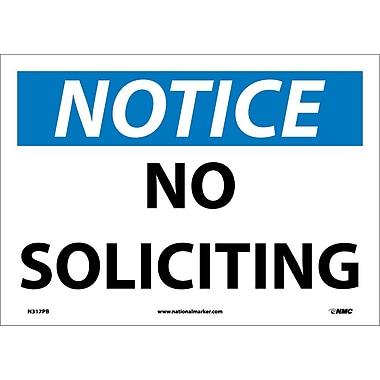 Notice, No Soliciting, 10