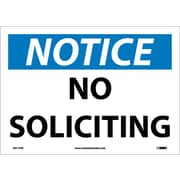 Notice, No Soliciting, 10X14, Adhesive Vinyl