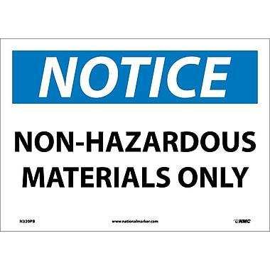 Notice, Non-Hazardous Materials Only, 10