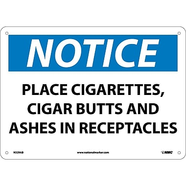 Notice, Place Cigarettes, Cigar Butts And Ashes In Receptacles, 10