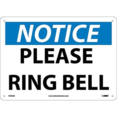 Notice, Please Ring Bell, 10X14, .040 Aluminum